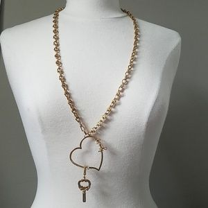 Juicy charm necklace heart shaped with rhinestones